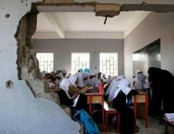 Children in Yemen Brave Bombs to Stay in School
